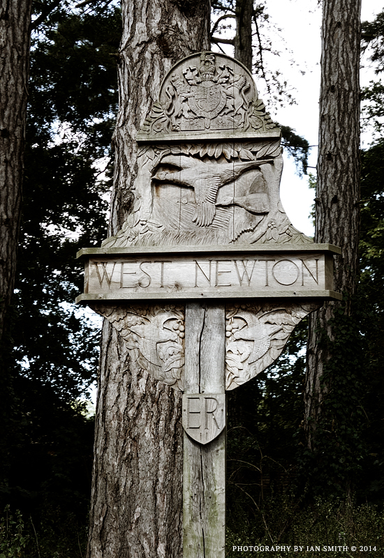 West Newton village sign