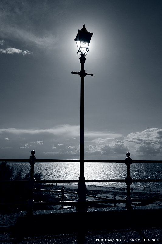 Sunlit lamp in Hunstanton, Norfolk