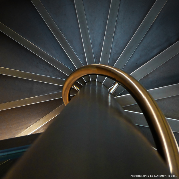 Spiral staircase abstract pattern