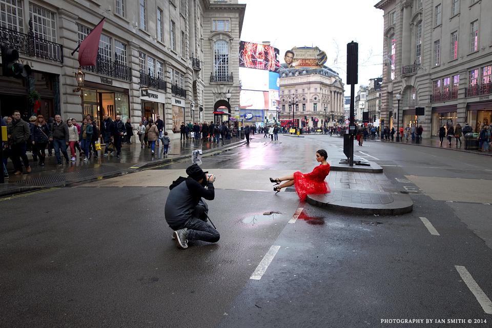 Photo shoot on London Regent Street