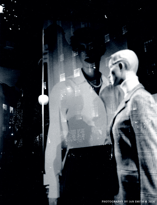 Reflections on a shop window