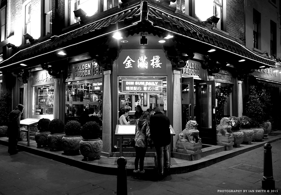 Night time in London Chinatown
