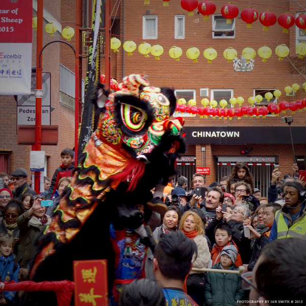 Lion Dance in London Chinatown