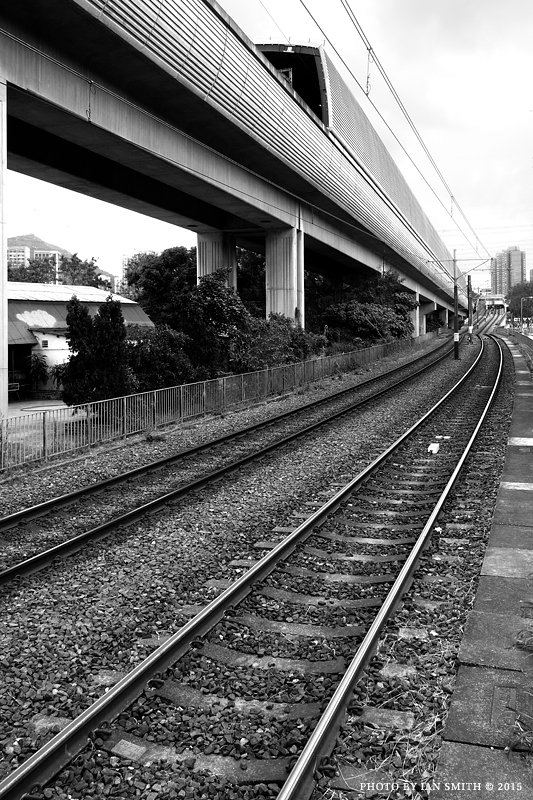 MTR and Light Rail tracks in Hong Kong