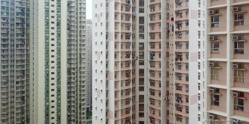 Residential towers in Yau Tong, Hong Kong