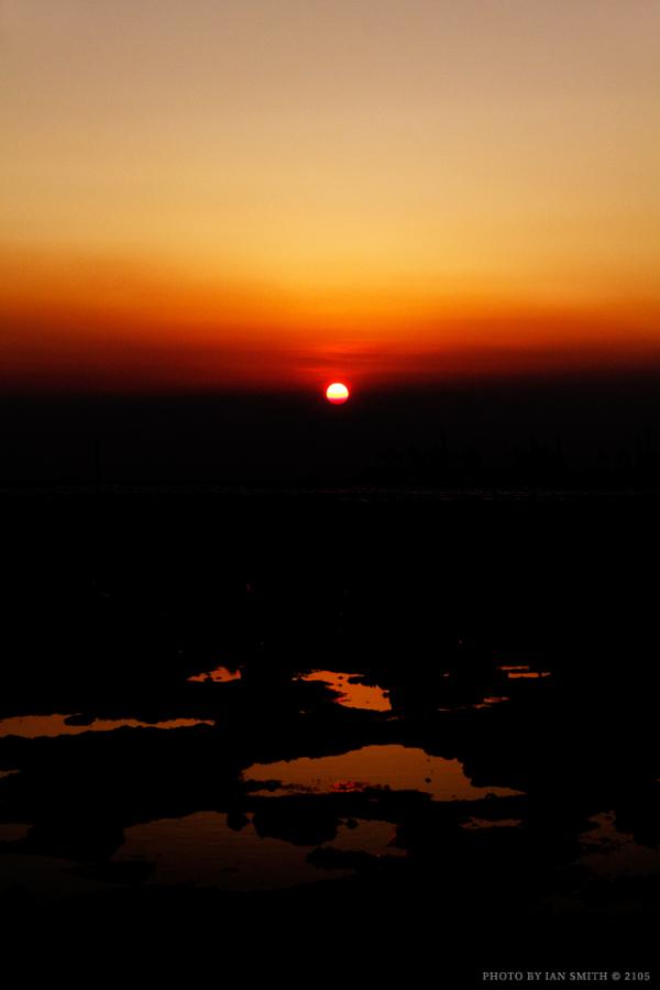 Dark sunset exposure at Pak Nai, Hong Kong
