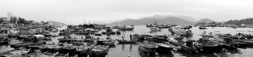 Panorama of Cheung Chau Wan, Hong Kong