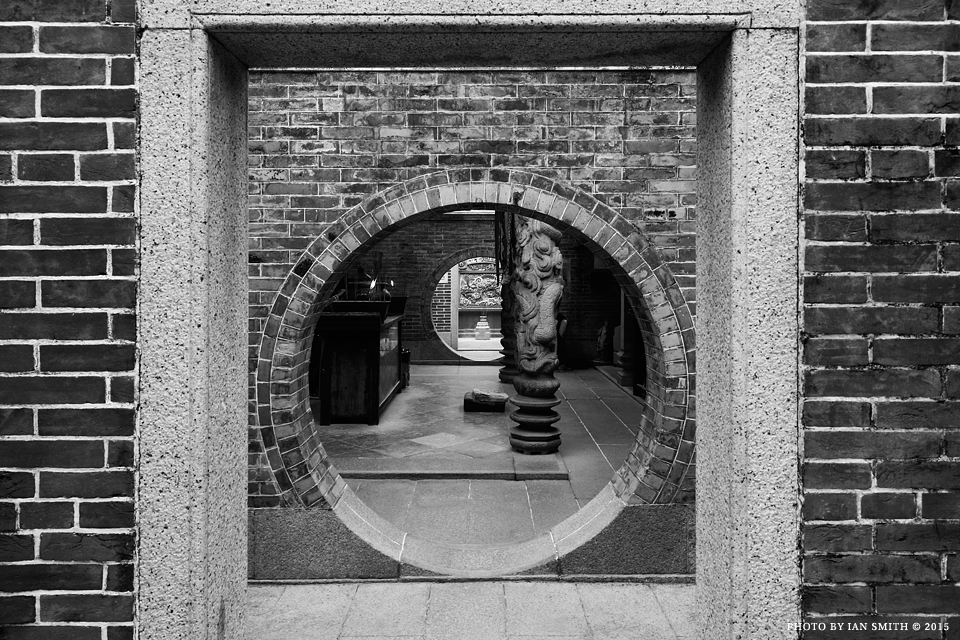 Circular entrances of Pak Tai Temple