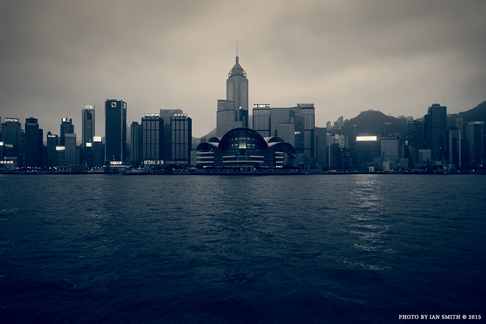 View of the Hong Kong skyline from the Star Ferry