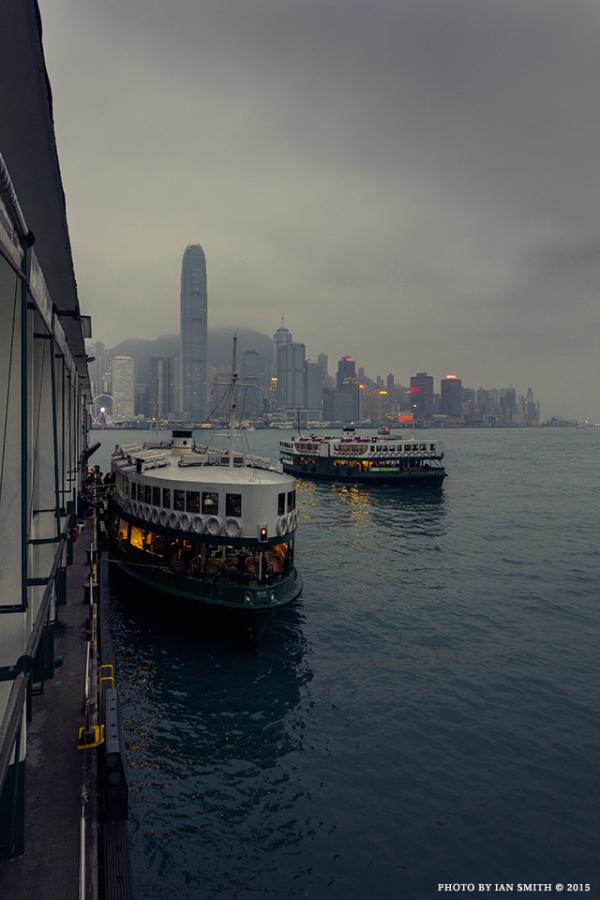 Two Star Ferries in Hong Kong
