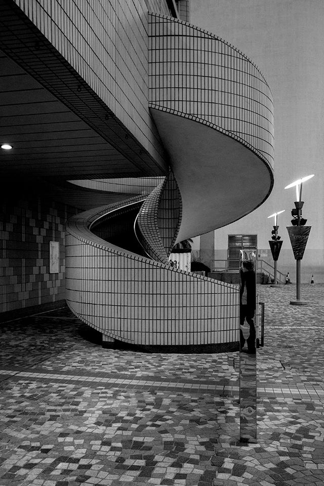 Spiral Staircase in Tsim Sha Tsui, Hong Kong