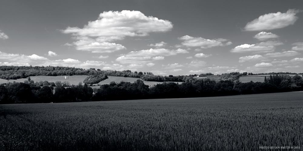 View across the Darent Valley, Kent