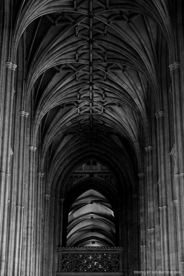 Nave view inside Canterbury Cathedral
