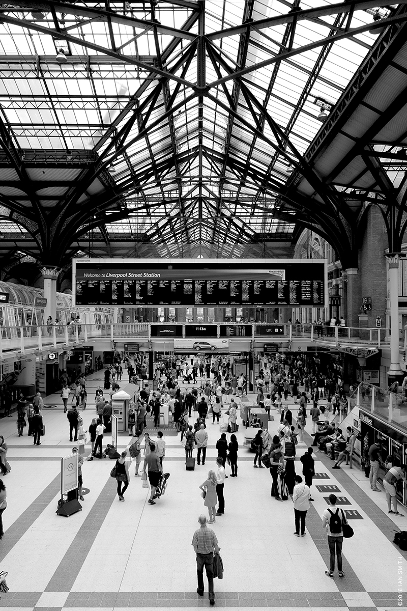 Inside Liverpool Street Station, London