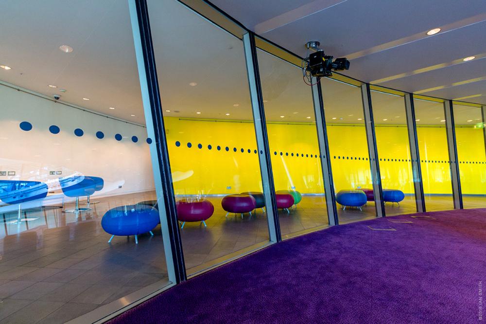 Colourful room inside London's City Hall