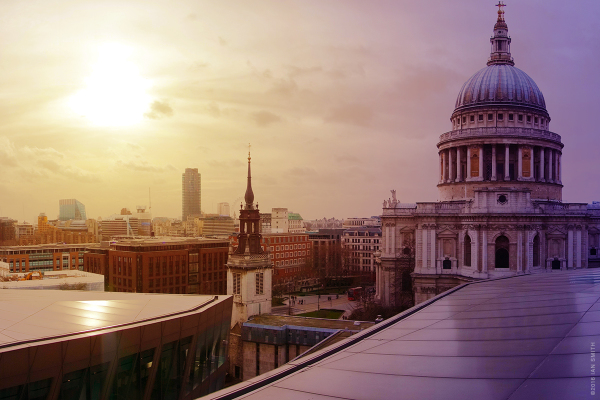 View of St Paul's and London Cityscape
