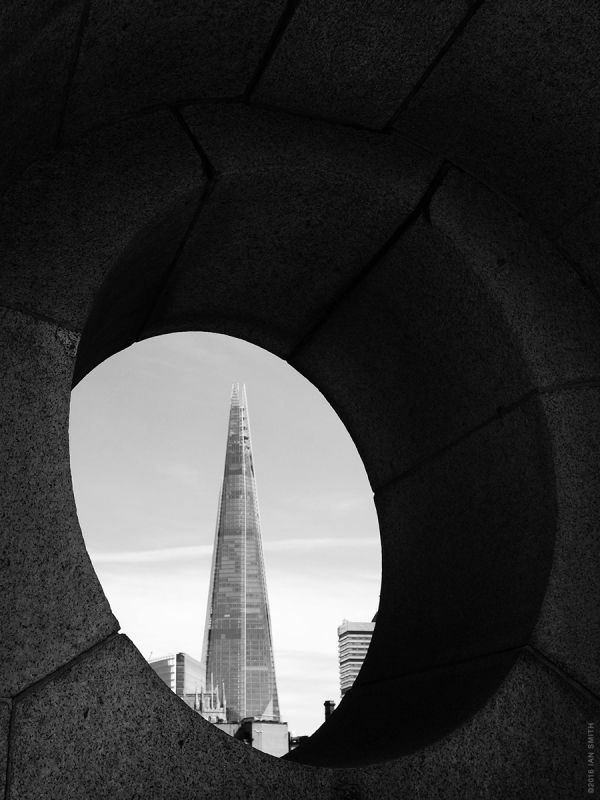 The Shard through Southward Bridge