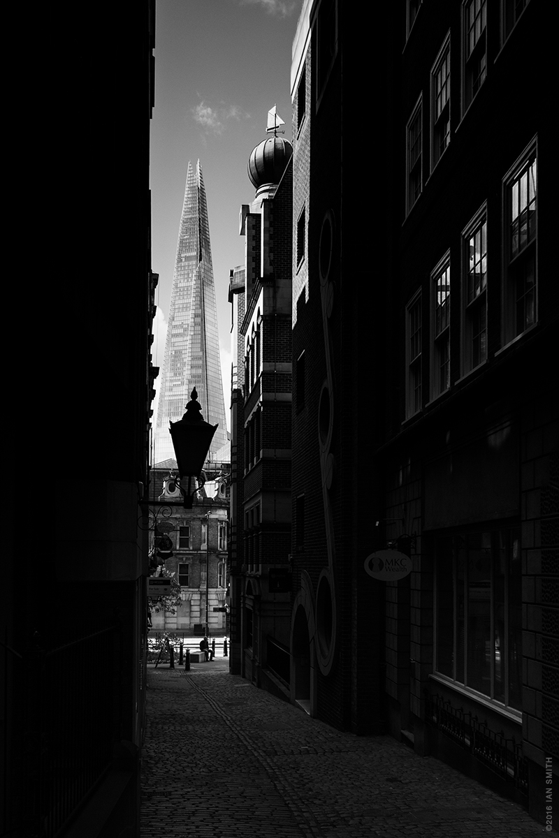 View of The Shard from Lovat Lane