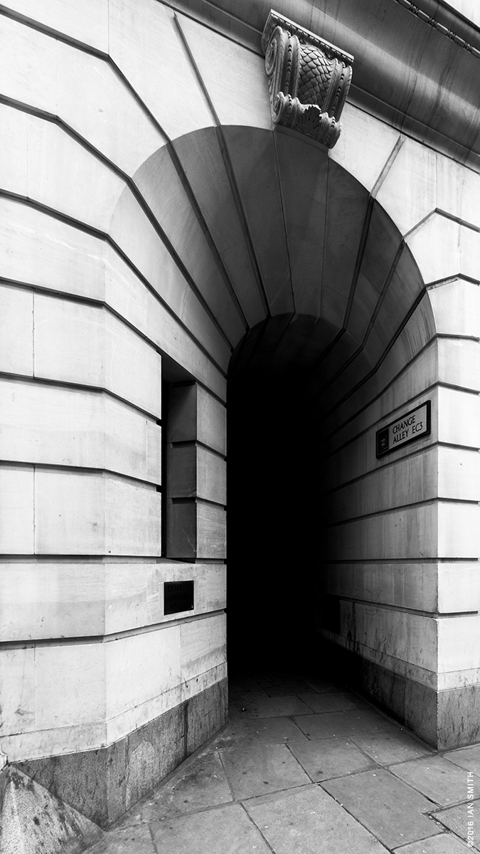 Entrance to Change Alley, London