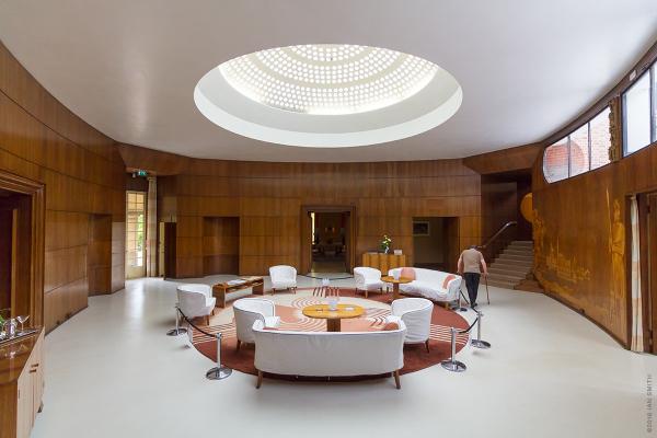 Art Deco entrance hall at Eltham Palace