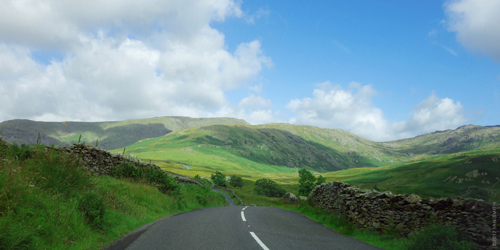 Driving in the Lake District, Cumbria, UK