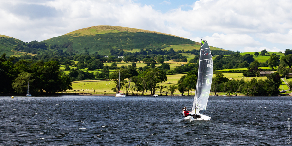 Boating on Ullswater in the Lake District, Cumbria