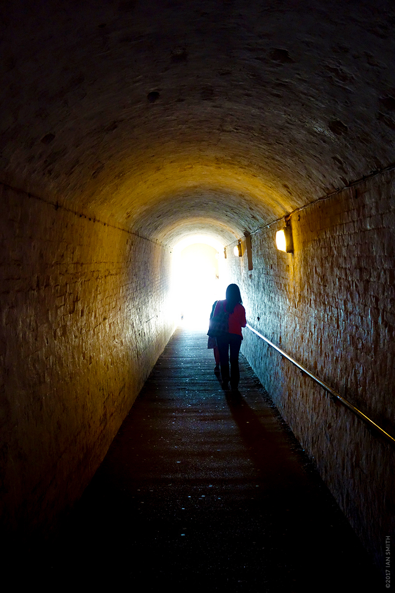 Leaving the war tunnels of Dover