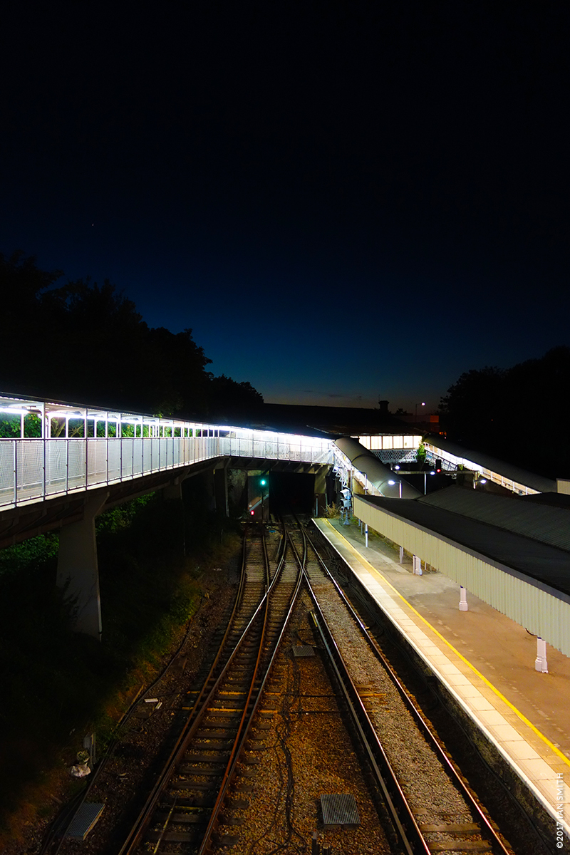 Grove Park Train Station Evening