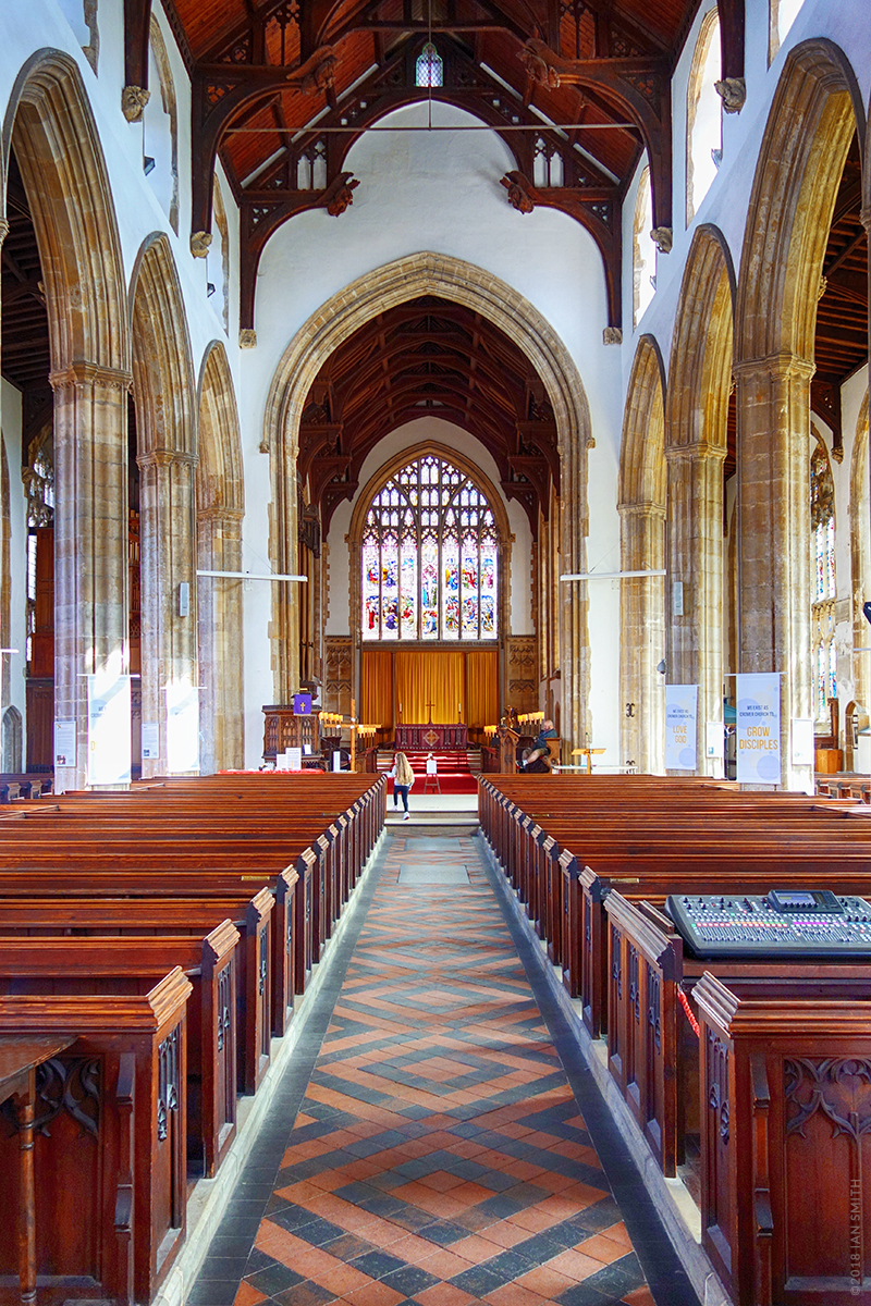 Inside Cromer Church, Norfolk