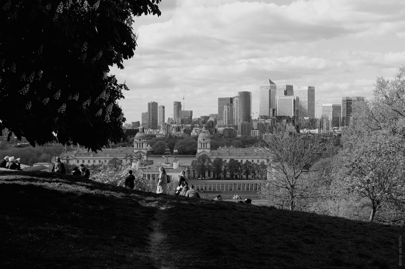 View from Greenwich Park, London
