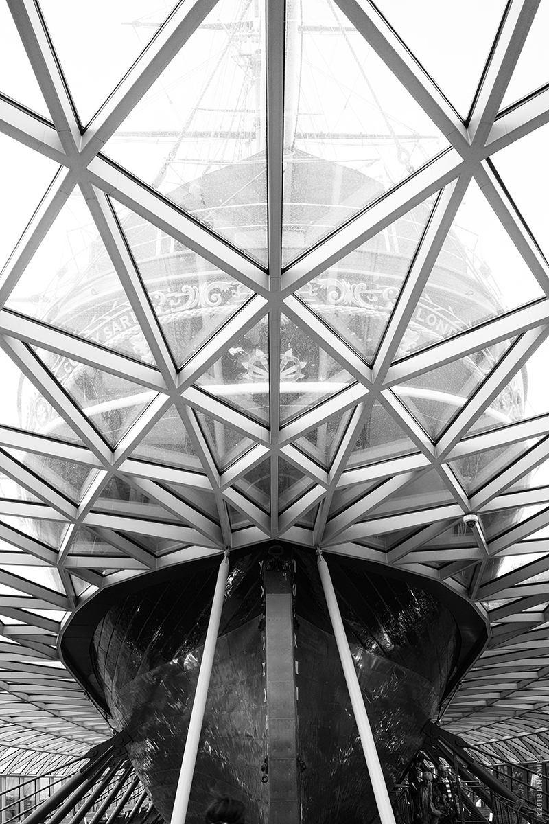 The stern of the Cutty Sark