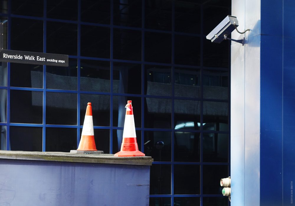 CCTV watching traffic cones