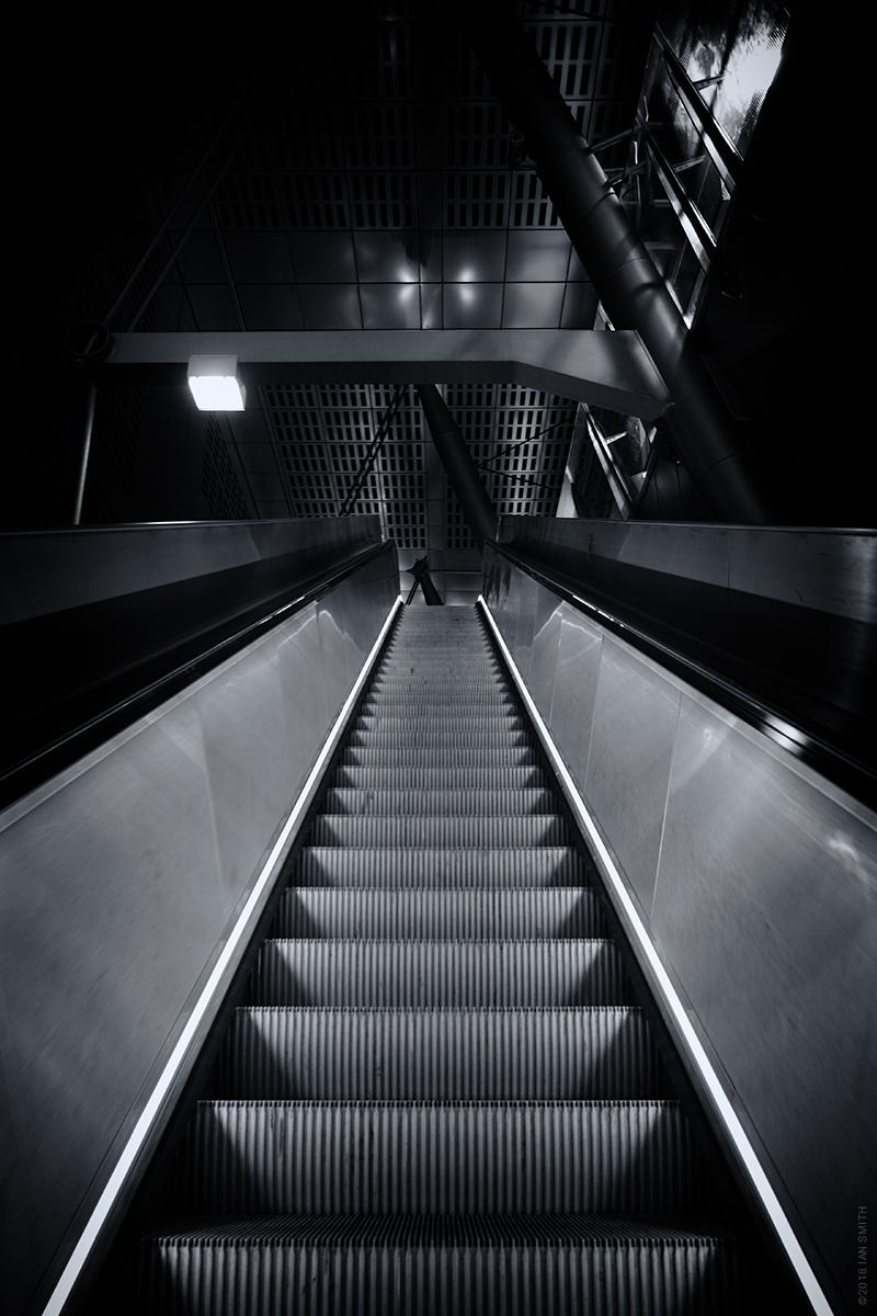 Heron Quays DLR Station Escalator