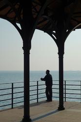 Man on Blake Pier, Stanley, Hong Kong