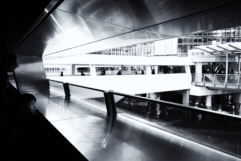 Elevated walkways in Central, Hong Kong