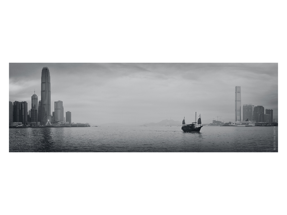 Panorama of Hong Kong Victoria Harbour