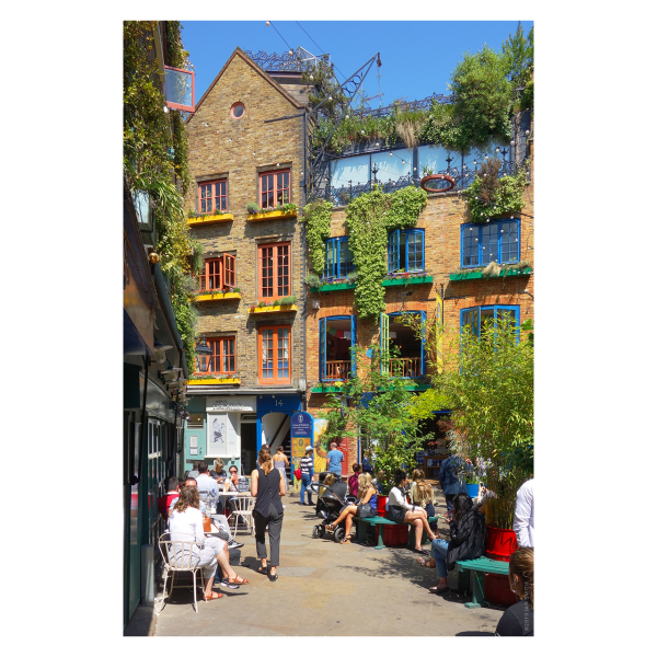 Neal's Yard in the summer, London