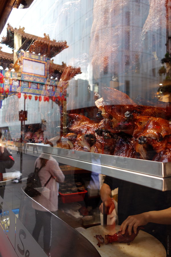 Window reflection in London Chinatown