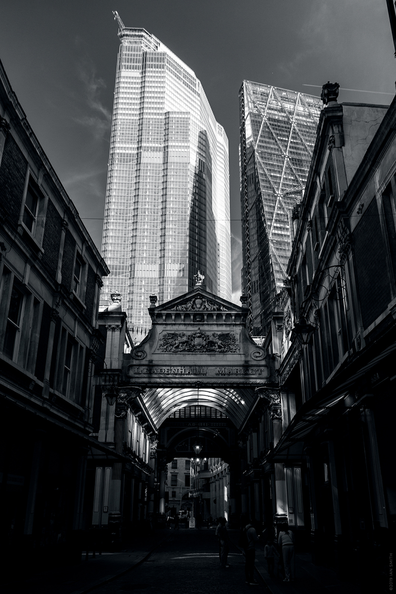 Leadenhall Market and tall buildings