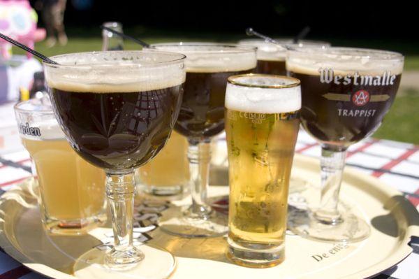 Blad met bier