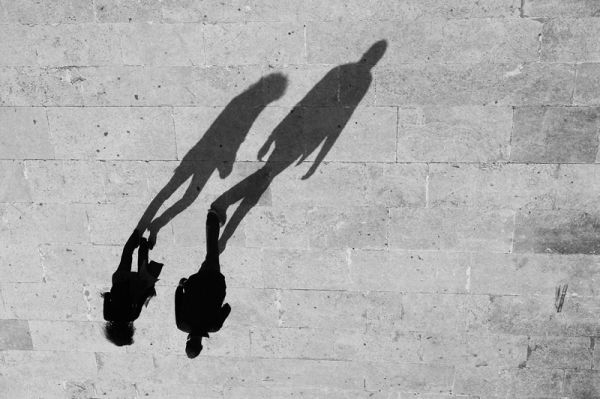 shadows, people