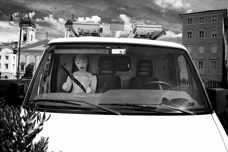 trieste, doll, van, car, street
