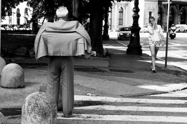 trieste street suit man woman