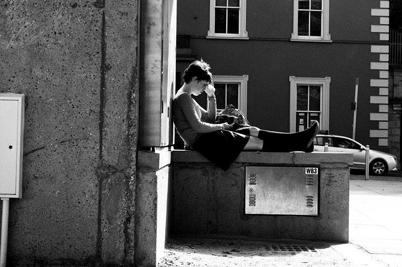 kilkenny, ireland, street, girl