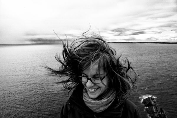wind, hair, girl, ireland