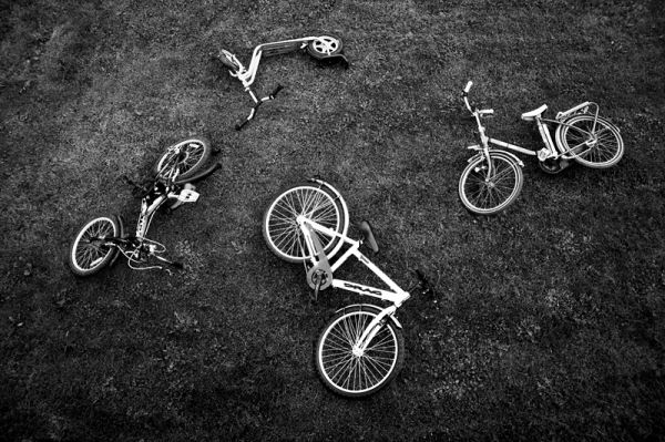 bike, bicycle, grass