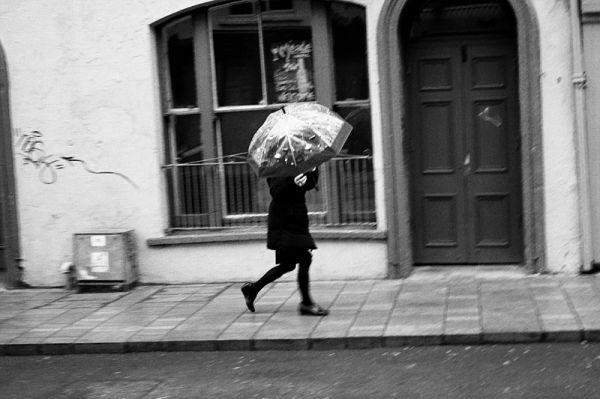 cork, ireland, rain, umbrella, run