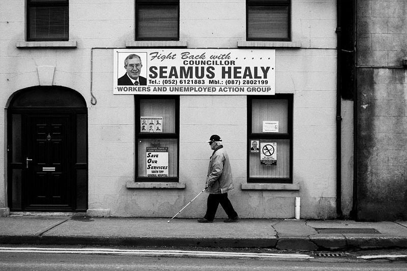 ireland, clonmel, old, man, walk