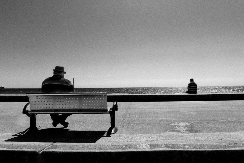 tramore, beach, ireland, bench