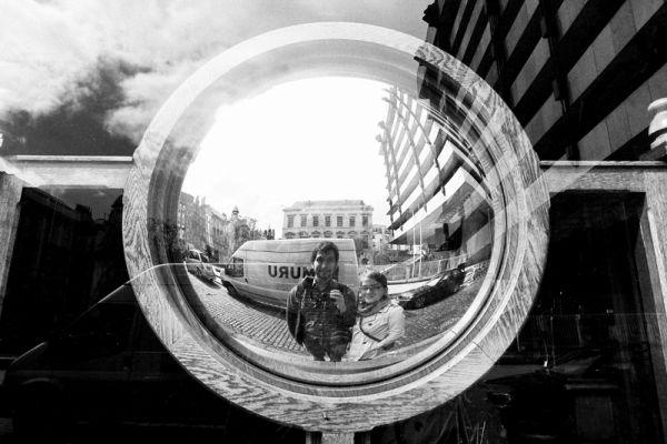 dublin, ireland, self portrait, reflection
